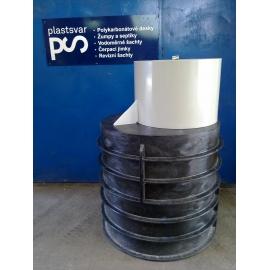 Jímka tlakové kanalizace, průměr 1000mm, v1800+200mm, s žebry