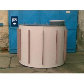 Plastová kruhová nádrž, dno a stěna 5mm, strop 8mm, s žebry